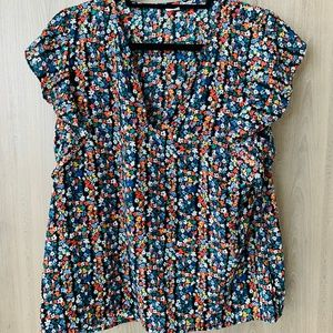 Gap Floral Flowy Blouse Women's M